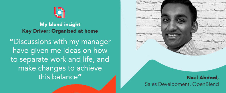 Blend Insights: Organised at home